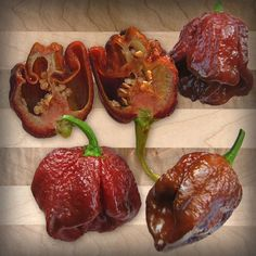 A sortable list of over 130 hot peppers. Includes photos, scovile scale and detailed information on many popular hot peppers. Stuffed Sweet Peppers, Stuffed Jalapeno Peppers, Worlds Hottest Pepper, Capsicum Chinense, Paprika Pepper, Hot Pepper Sauce, Chocolate, Food For Thought, Mexican Food Recipes