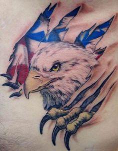 Tattoo white eagle US flag - Title