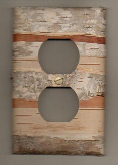 birch bark outlet covers