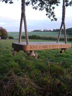 personalised english oak swing by marnie moyle | notonthehighstreet.com