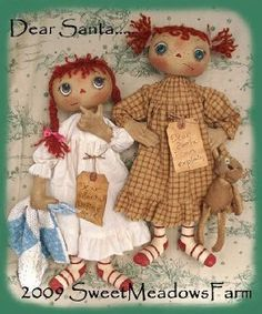 rag doll patterns Dear Santa for sale by Sweet Meadows Farm
