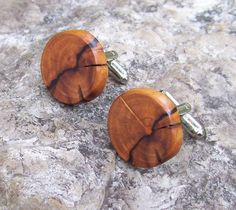 Rustic Wood Cufflinks - Magnolia Tree Branch - Perfect Gift For Birthdays, Wedding, Anniversaries, Boss Day, And Graduation - 3/4 inch - 397