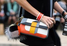 Street Style Paris Fashion Week Fall 2013  Fendi bag  Photographed by Phil Oh