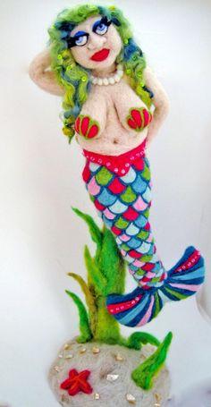 Custom Mermaid or other needle felted creation by Blinkr on Etsy, $200.00