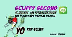 SCLIFFY SECOND  LINE STICKER #420#reggae#hiphop http://line.me/S/sticker/1189254