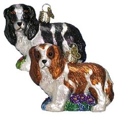 "King Charles Cocker Spaniel Christmas Ornament 12139 Size: 2 1/2"" *Ornament does not come in a box Mouth blown, hand painted, glass Christmas ornament from Merck Family's Old World"