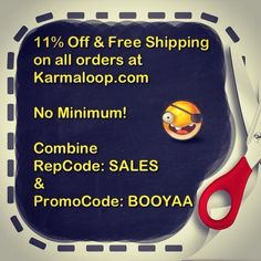KARMALOOP: 11% Off & Free Shipping on all orders!! Combine RepCode: SALES & PromoCode: BOOYAA at checkout! For more Karmaloop discount codes, visit http://www.Karmaloop-Codes.com #Karmaloop #FreeShipping #Sales #Discounts