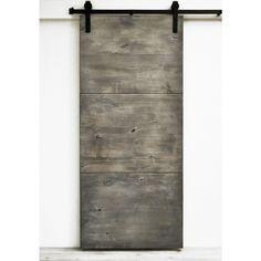 Dogberry Modern Slab 36 x 82 inch Barn Door with Sliding Hardware System