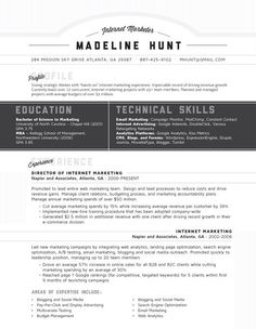 Resume Template | Market Square Grey – Loft Resumes
