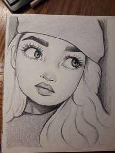Amazing fan drawing - Art World Disney Drawings Sketches, Girl Drawing Sketches, Cartoon Girl Drawing, Art Drawings Sketches Simple, Cartoon Drawings, Fan Drawing, Tumblr Girl Drawing, Drawing Of A Person, Cartoon Pencil Sketches