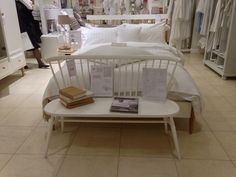 Shopping in Oxford Street? ercol's devon bedroom range and love seat in white, shown by The White Company in Selfridges. Ercol Furniture, Oxford Street, The White Company, Design Elements, Love Seat, Commonplace Book, Interior Design, The Originals, Bedroom