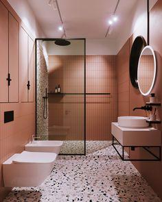 50 beautiful bathroom color scheme ideas for small & master bathroom 48 – Home Decor İdeas Modern Diy Bathroom Decor, Bathroom Interior Design, Modern Bathroom, Small Bathroom, Master Bathroom, Bathroom Ideas, Bathroom Organization, Bathroom Pink, Boho Bathroom