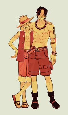Anime Costume Luffy and Ace.my sweet Ace♡ - One Piece ルフィ, Anime One Piece, One Piece Funny, One Piece Drawing, One Piece Comic, One Piece Fanart, 0ne Piece, Single Piece, One Piece Pictures