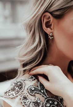 Nadri Ear Jacket. Just the right amount of sparkle in simple, diamond earring.