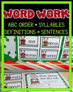 Accountable for Reading, Work Work, Fluency, and More!  Christmas themed word work plus Reader's Theater script.  paid