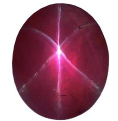 The Rosser Reeves Star Ruby is a 138.7-carat red star ruby of Sri Lankan origin / Smithsonian Institute