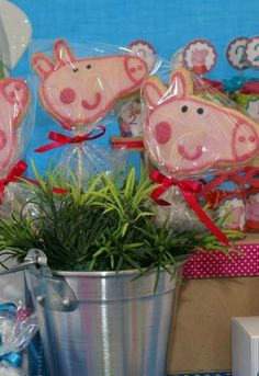 Peppa Pig Birthday Party cookies! See more party planning ideas at CatchMyParty.com!