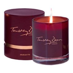 Arabian Fig Candle by Timothy Dunn Red Candles, Luxury Candles, Scented Candles, Candle Jars, Candle Labels, Candle Box, Candle Containers, Homemade Candles, Candels