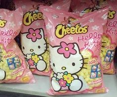 {I bet they taste like Friendship} Hello Kitty Cheetos