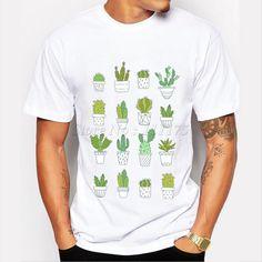 Aliexpress.com: Comprar 2016 del personalizar Cactus Printed manga corta camiseta nuevo hombres de moda T shirt Hipster Tops de camisa bordado fiable proveedores en Lovingirl Sexy Lingerie