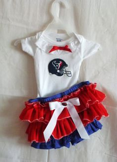NFL Houston Texans Boutique Onsie Bloomer Outfit NB by SedonaStyle, $34.00
