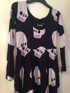 Lazy Oaf Skull Dress Size Medium | eBay