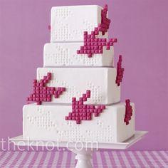 cool tetris like wedding cake