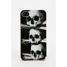 Fun Stuff Stacked Skull iPhone 4/4s Case (£13) ❤ liked on Polyvore featuring accessories, tech accessories, phone cases, phones, electronics, iphone cases, stacked skull, iphone hard case, apple iphone case and iphone cover case