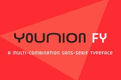 Check out Younion FY Two Thin by FONTYOU on Creative Market