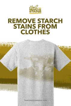 Starch is not only recognized in keeping clothes neat but it also helps protect the fabric from stains. Sadly, long term use of starch will cause fabrics Grease Stains, Remove Stains, Iron Cleaner, Spray Starch, Stain On Clothes, Dishwashing Liquid, White Towels, Cleaning Solutions, Cleaning