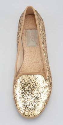 Glitter UGG flats? Yes, please!