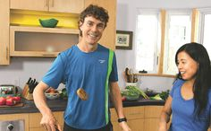 Vegan Ultrarunner, Scott Jurek. I've been reading his book and its very interesting.