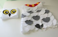 DIY Halloween - Baby / Toddler Hedwig the Owl Costume from Harry Potter - Neverland Nook Owl Costume Diy, Baby Owl Costumes, Owl Halloween Costumes, Halloween Owl, Toddler Costumes, First Halloween, Toddler Halloween, Diy Costumes, Halloween Ideas