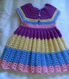 Baby Crochet Patterns Part 21 - Beautiful Crochet Patterns And Knitting Patterns Babycrochetpatternsfree - Diy Crafts Crochet Toddler Dress, Crochet Dress Girl, Crochet Wedding Dresses, Crochet Baby Dress Pattern, Baby Girl Crochet, Crochet Baby Clothes, Crochet For Boys, Knit Crochet, Crochet Baby Dresses