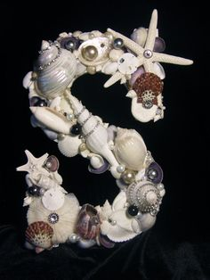 Letter embellished with Seashells and Jewels por seashellgalleria, $75.00