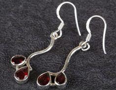 Dangle Earrings – Garnet Earring, 925 Silver Earring, Gift Earring – a unique product by Midas-Jewelry on DaWanda