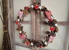 červený vianočný veniec SKLADOM by tulip.dekoracie - SAShE.sk - Handmade Vianoce