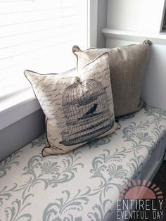 DIY Custom Bench Cushion for Hearth. Would be so much easier to ...