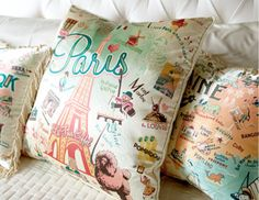 I pinned this from the catstudio - Vintage Travel-Inspired Throw Pillows event at Joss & Main!