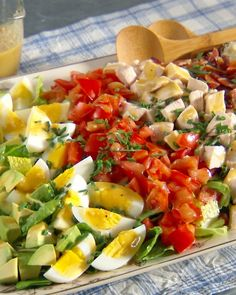 California Cobb Salad....Created at Brown Derby Restaurant in Hollywood, this bulked up salad is a flavorful and satisfying entree.