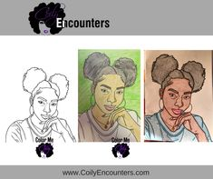 Natural Hair Adult Coloring Book and pages features afro puffs, twist outs, bantu knots and loc styles for women.   We call this Natural Hair Adult Coloring Page, PuffTastic! To purchase our natural hair coloring book, visit www.ColorMeCoily.com