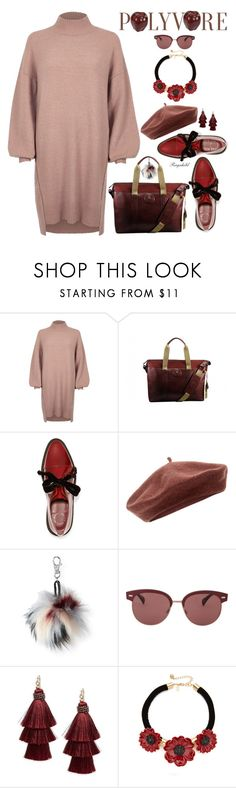 """Cozy & Cute: Sweater Dress"" by ragnh-mjos ❤ liked on Polyvore featuring River Island, Marc by Marc Jacobs, Accessorize, Aéropostale, Oliver Peoples, Design Lab and Kate Spade"