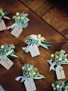 groomsmen boutonnieres, photo by Shane and Lauren Photography http://ruffledblog.com/romantic-wedding-meets-winery-chic #bouts #grooms #flowers