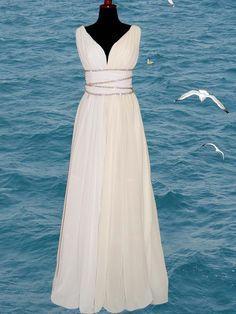 Greek Goddess Inspired Dresses | Greek style wedding dresses of