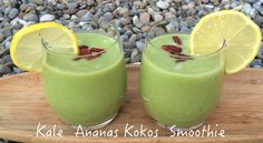 Kale Ananas Kokos Smoothie  Rezept findest Du auf meinem Blog Avocado, Honeydew, Clean Eating, Cleaning, Fruit, Blog, Coconut Smoothie, Smoothie Recipes, Pineapple Coconut