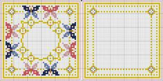 Butterfly biscornu pattern ... no color chart available, just use pattern chart as your color guide.. or choose your own colors...