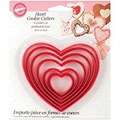 Wilton Nesting Plastic Cookie Cutters-Hearts, , hi-res Animal Cookie Cutters, Heart Cookie Cutter, Metal Cookie Cutters, Heart Cookies, Apple Cookies, Yummy Cookies, Decorating Supplies, Baking Supplies, Baking Tools