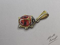 Lady Bug Pendant DRAWING by marcellobarenghi on DeviantArt