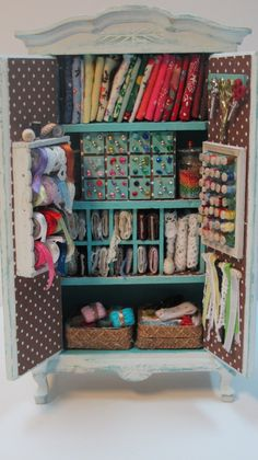haberdashery armoire by Mini2Love on Etsy
