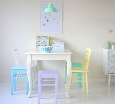 Decoración en colores pastel - Ana Pla - interiorismo y decoración